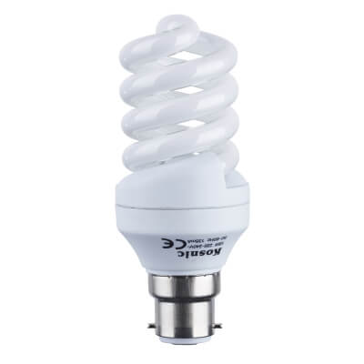 18W BC Energy Saving Spiral Lamp - Warm White)
