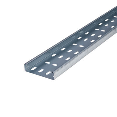 Medium Duty Cable Tray - 100 x 3000mm - Galvanised)