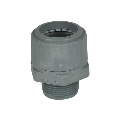 Univolt PVC Flexible Conduit Gland - 25mm - Grey)