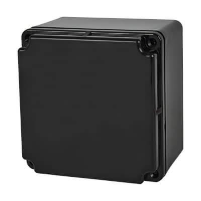 Marshall Tufflex IP66 100mm PVC Adaptable Box - Black)