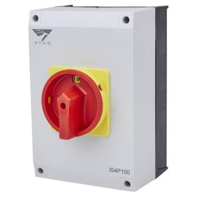 100A 4 Pole Isolator Waterproof - IP65)