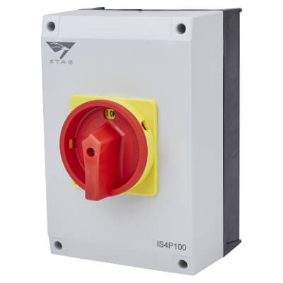 100A 4 Pole Rotary Isolator Waterproof - IP65)