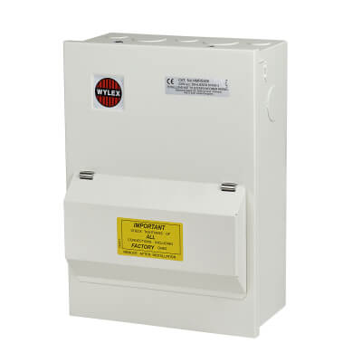 Wylex 5 Way 100A RCD Metal Consumer Unit - Amendment 3)