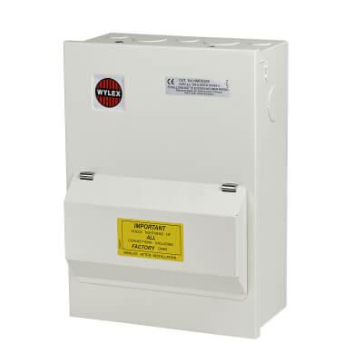 Wylex 5 Way 100A RCD Metal Consumer Unit - Amendment 3)