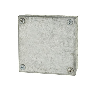 Adaptable Back Box - 4 x 4 x 1.5 Inch - Galvanised)