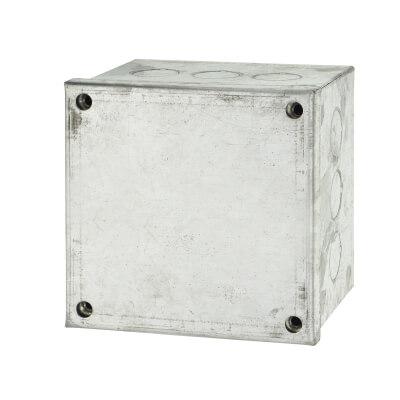 Adaptable Back Box - 4 x 4 x 3 Inch - Galvanised