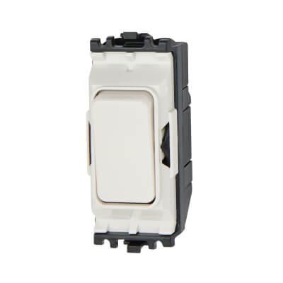 MK 10A 2 Way Single Pole Grid Switch - White)