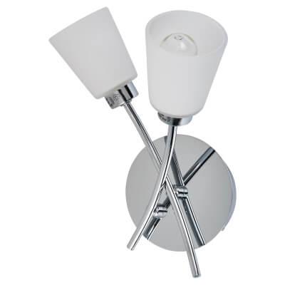 Tucana 2 x 28W G9 Bathroom Wall Light - Chrome)