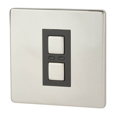 LightwaveRF 1 Gang Dimmer Switch - Chrome)