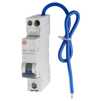 Wylex 10A 30mA Single Pole RCBO - Type B)