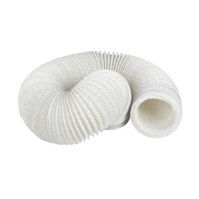 Manrose 4 Inch PVC Flexible Ducting - 6m - White)