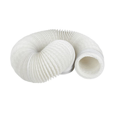 Manrose 4 Inch PVC Flexible Ducting - 6m - White)