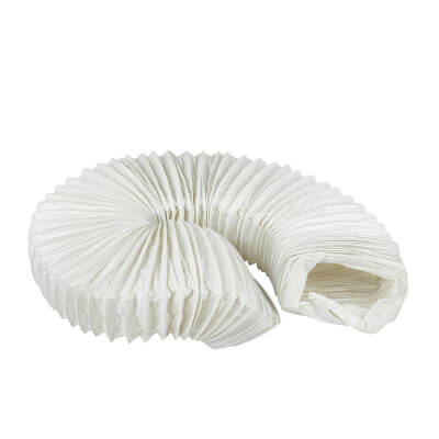 Manrose Rectangular PVC Flexible Ducting - 110 x 54 x 3000mm - White)