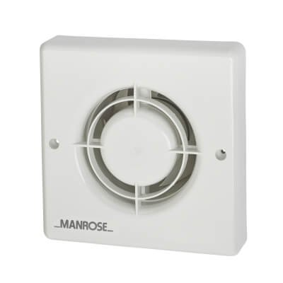 Manrose XF100T 4 Inch Axial Extractor Fan with Timer)