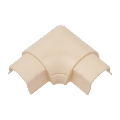 D-Line Flat Bend - 30 x 15mm - Smooth Fit - Magnolia)