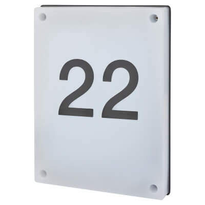 Integral LED 6W House Number Outdoor Wall Light)
