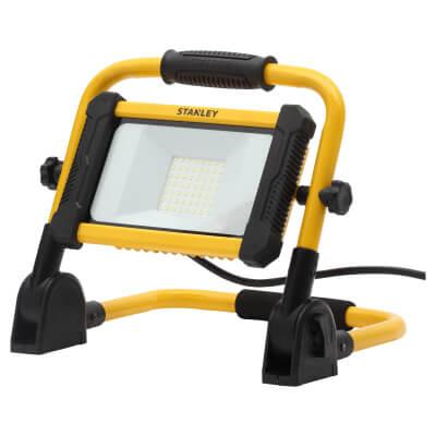 Stanley 240V 30W LED Folding Worklight - Yellow/Black)