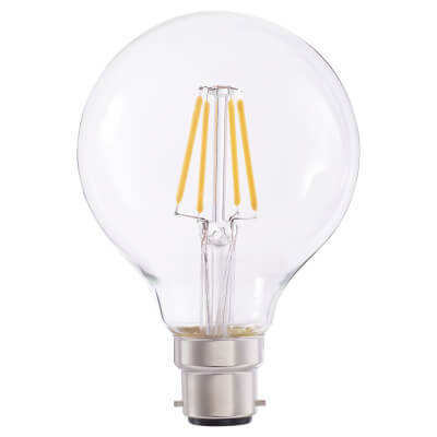 4W LED Vintage Globe - BC - Clear)