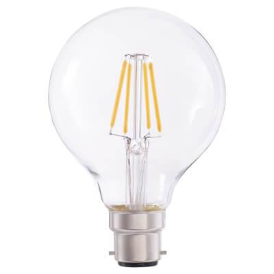 4W LED Vintage Globe - BC - Clear)
