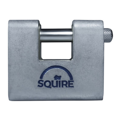 Squire Armoured Steel Shutter Lock - 80mm - Keyed To Differ)