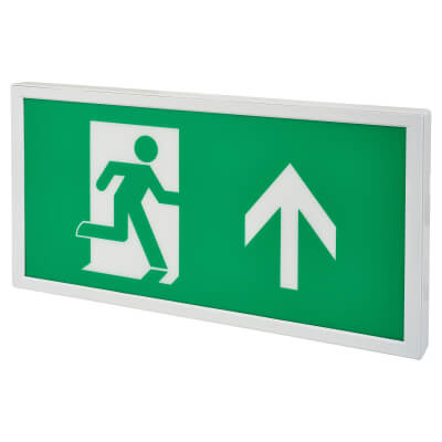 Integral LED Slimline Emergency Exit Sign Light Box - Up Arrow)
