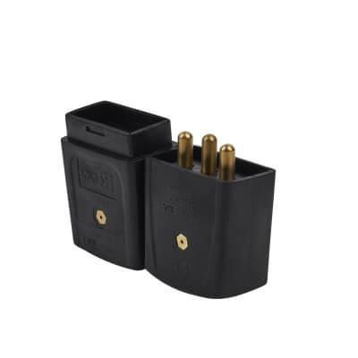10A 3 Pin Plug & Socket - White)