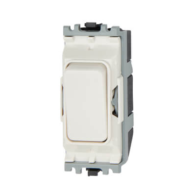 MK 10A 1 Way Double Pole Switch Module - White