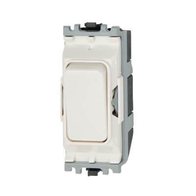 MK 10A 1 Way Double Pole Switch Module - White