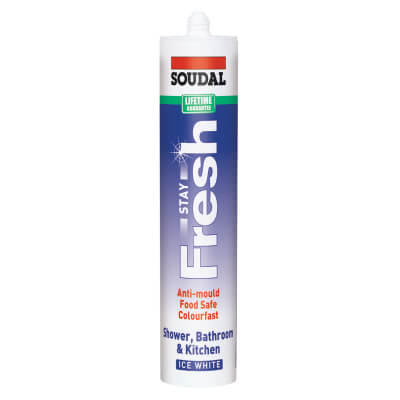 Soudal Stay Fresh Ultimate Anti-mould Sealant - 300ml - Ice White)