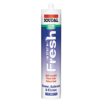 Soudal Stay Fresh Ultimate Anti-mould Sealant - 300ml - Ice White)