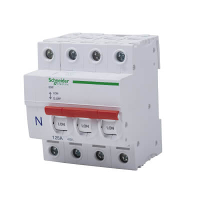 Schneider 125A Triple Pole and Neutral Switch Isolator)