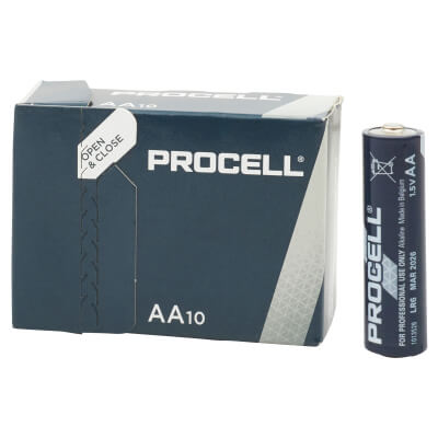 Duracell Procell Batteries - AA Type - Pack 10)