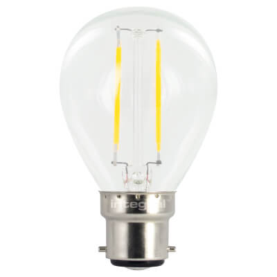 Integral LED 2W Mini Globe Filament Lamp - B22 - 2700K )