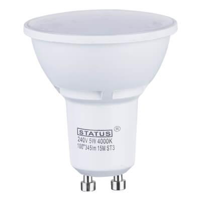 5W LED GU10 Spot Lamp - Cool White)