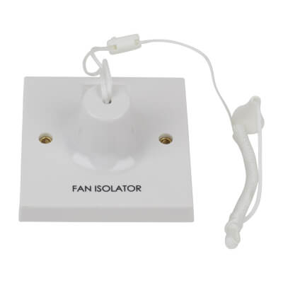BG 10A Fan Isolator Ceiling Switch - White)