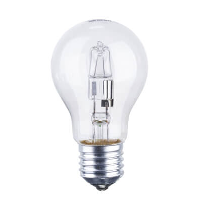72W ES GLS Halogen Lamp - Dimmable - Clear)