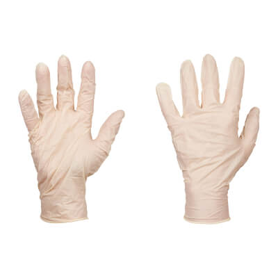Disposable Latex Gloves - Box 100)