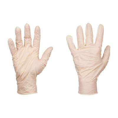 Disposable Latex Gloves - Box 100)