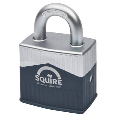 Squire Warrior Open Shackle Padlock - 55mm - Keyed to Differ)