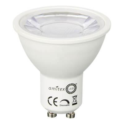 Amitex Starbright 4.5W LED GU10 Spotlight Lamp - Dimmable - Warm White)
