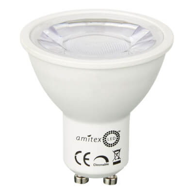 Amitex Starbright 4.5W LED GU10 Lamp - Dimmable - Warm White)