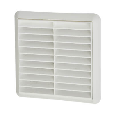 Manrose 5 Wall Grill Fixed Shutter - White)