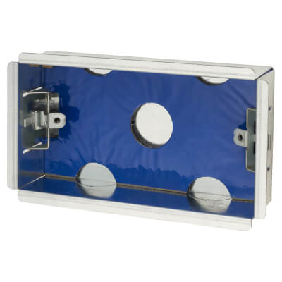 Fire Rated Dry Line Box - 35mm - 2 Gang