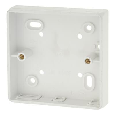 Marshall Tufflex 1 Gang Radius Surface Pattress Box with Knockout - 19mm - White)