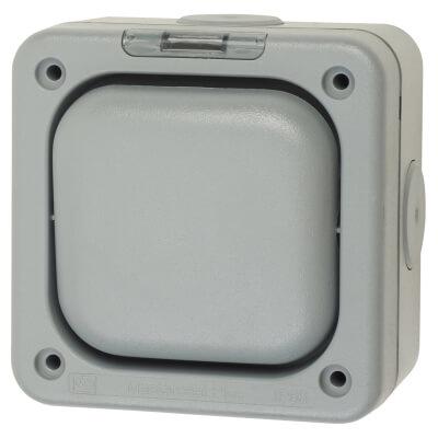MK Masterseal Plus 10A IP66 1 Gang 2 Way Weatherproof Switch - Grey)