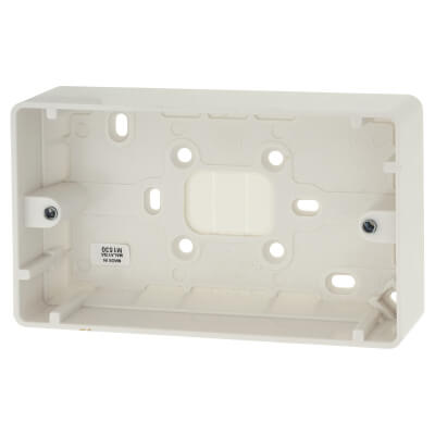 MK 2 Gang Moulded Surface Pattress Box - 30mm - White)