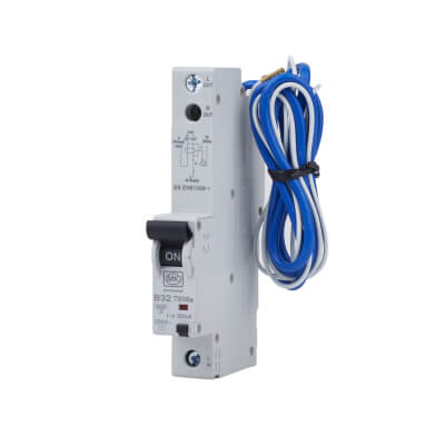 MK Sentry 32A 30mA Single Pole RCBO - Type B)