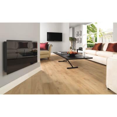 Dimplex Girona Eco 0.75kW Electric Panel Heater - Black)