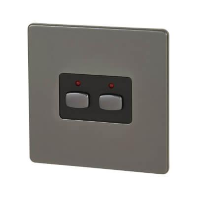 MiHome 2 Way Light Switch - Black Nickel)