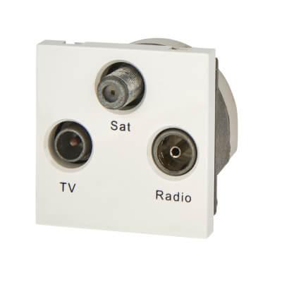 BG Triplex Module TV/FM/Satellite - White